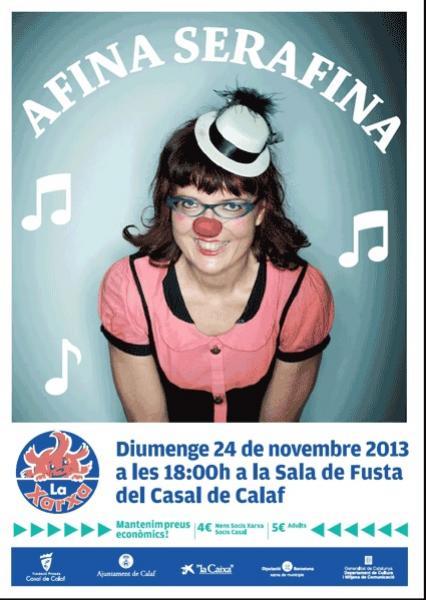 cartell Espectacle Afina Serafina!