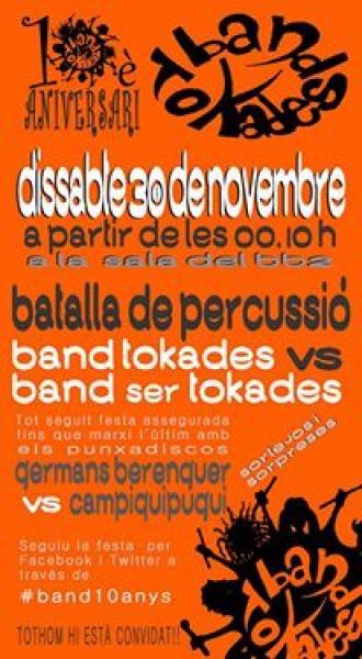 cartell 10è aniversari Band Tokades - Cervera