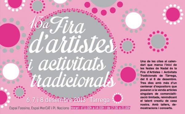 cartell 15a Fira d'Artistes i Activitats Tradicionals - Tàrrega
