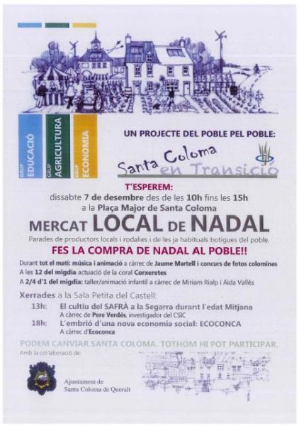 cartell Mercat local de Nadal