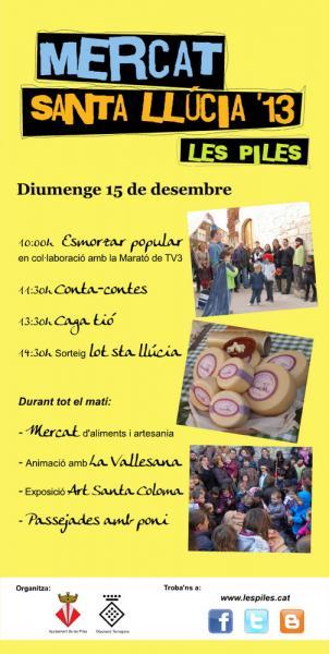 cartell Mercat Santa Llùcia '13