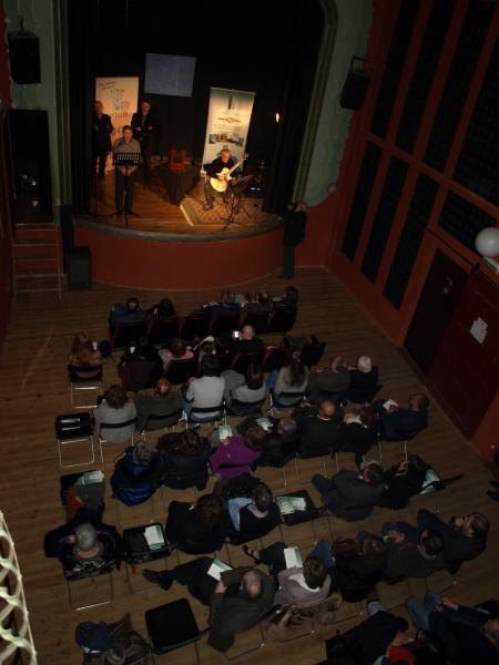 24.03.2013 acte de lliurament del Premi Sikarra 2013, al teatre de Ca l'Eril de Guissona  Guissona -  Jaume Moya