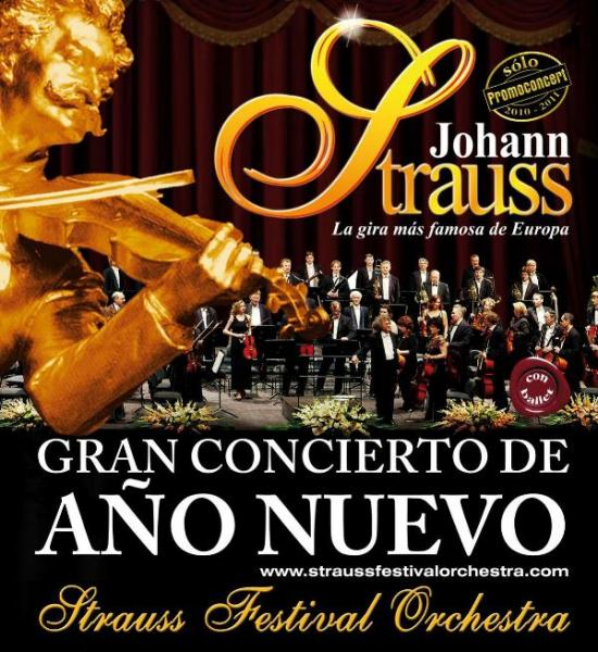 cartell Concert d'Any Nou amb Strauss Festival Orchestra
