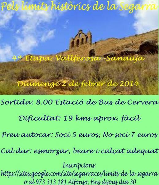 cartell Caminada: Vallferosa - Sanaüja