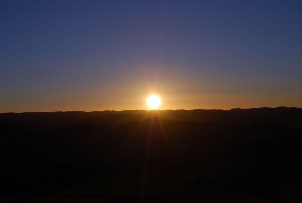02.02.2014 Posta de Sol a l'hivern  Segarra -  Ramon Sunyer