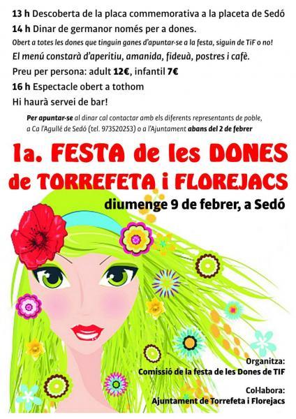 cartell 1a Festa de les dones