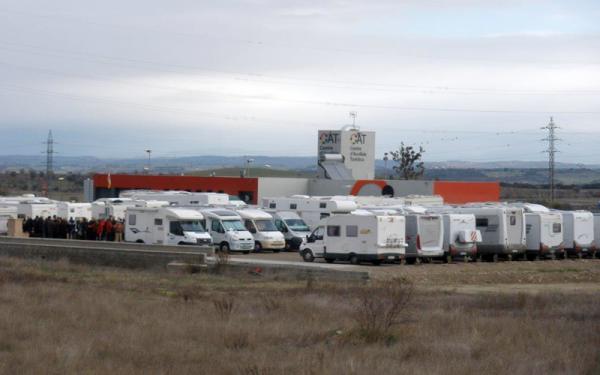 10.02.2014 àrea d'aparcament de caravanes  Cervera -  paeria