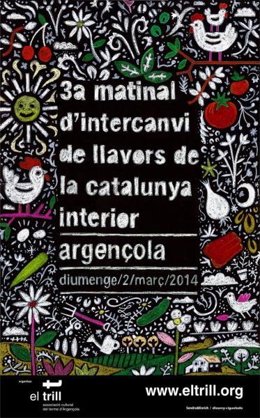 Cartell 3a Matinal d'intercanvi de llavors de la Catalunya interior - Argençola