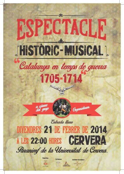 cartell Musical 'Catalunya en temps de guerra'