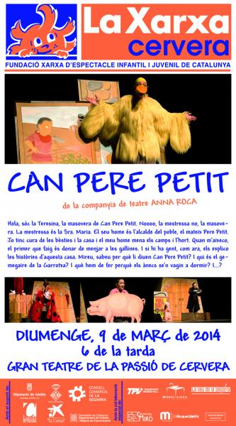 cartell Can Pere Petit. Espectacle Xarxa