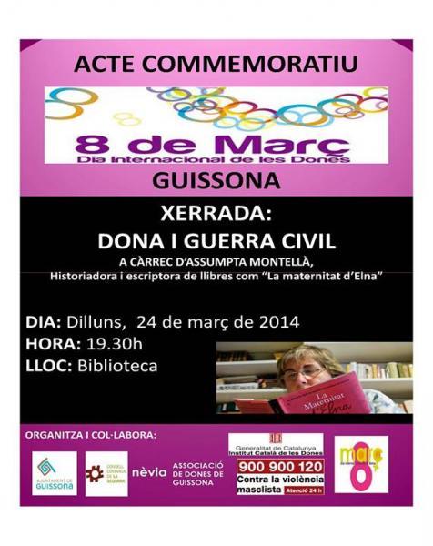 Acte a Guissona per commemorar  el Dia Internacional de les Dones - Guissona