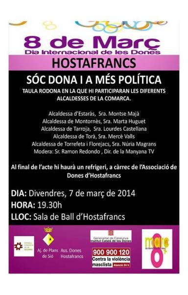 Acte a Hostafrancs per commemorar  el Dia Internacional de les Dones - Hostafrancs
