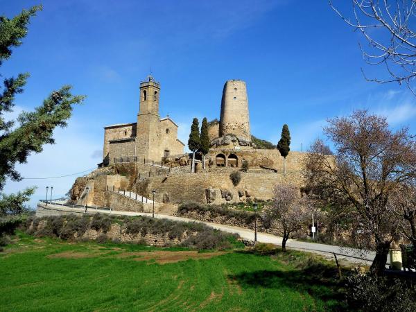 06.03.2014 Vista del castell i la torre  Lloberola -  Isidre Blanc