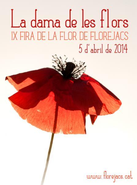 cartell IV FIRA DE LA FLOR DE FLOREJACS. La Dama de les Flors