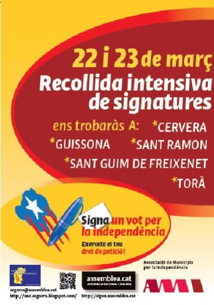 cartell de la campanya dels dies 22 i 23 de març -