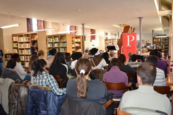 21.03.2014 celebració del Dia Mundial de la Poesia  Cervera -  CC Segarra