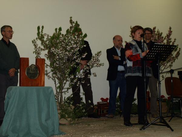 24.03.2014 Dolors Calafell agraeix el premi en nom de Càritas de Cervera  Tarroja de Segarra -  Jaume Moya