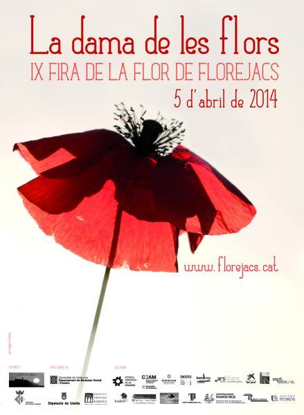 31.03.2014 cartell de la IX Fira de la Flor, obra de Mercè Serra  Florejacs -  Mercè Serra