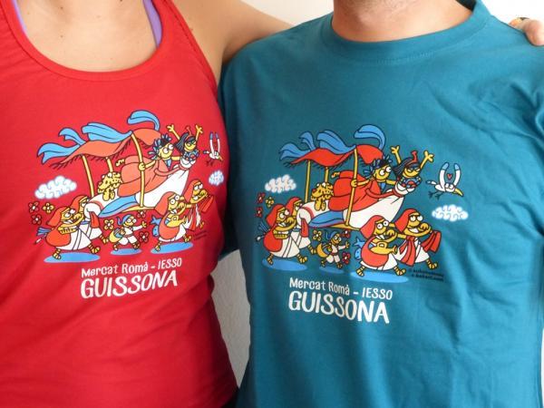 12.04.2014 Les samarretes per promoure el Mercat Romà arreu  Guissona -  Ajuntament Guissona
