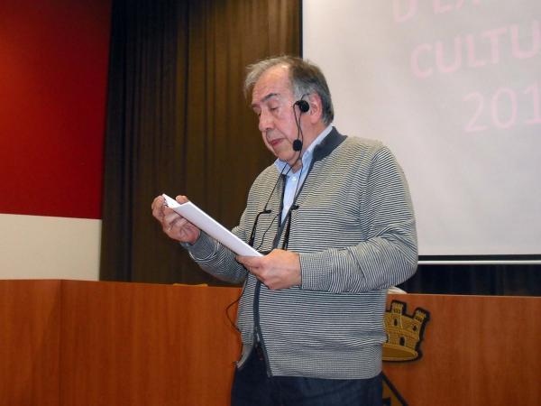 10.04.2014 Lectura poètica de Joan Margarit a l'aula d'extensió cultural  Guissona -  Ajuntament Guissona