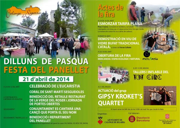 cartell Festa del panellet - Calonge de Segarra
