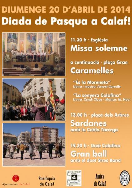cartell Pasqua a Calaf - Calaf