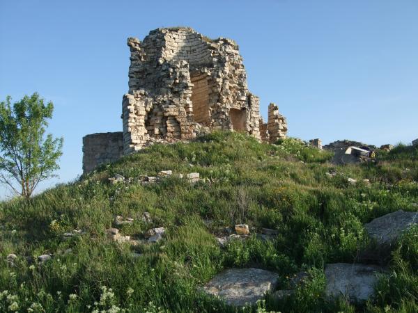 Abans de la segona intervenció arqueològica al castell Sant Miquel d'Alta-riba -
