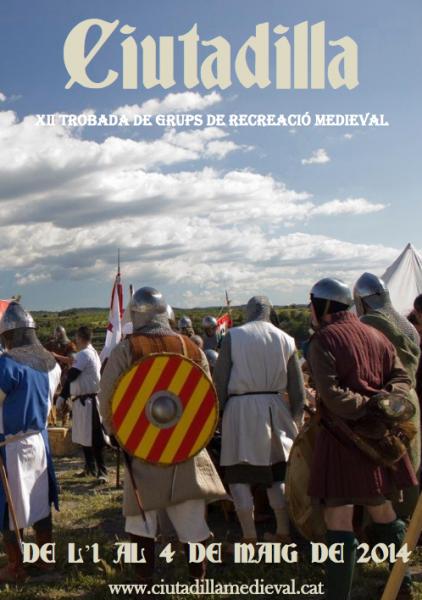 cartell XII Trobada de Grups de Recreació Medieval