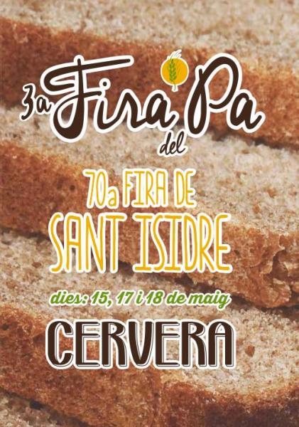 cartell 70a Fira de Sant Isidre - 3a Fira del Pa