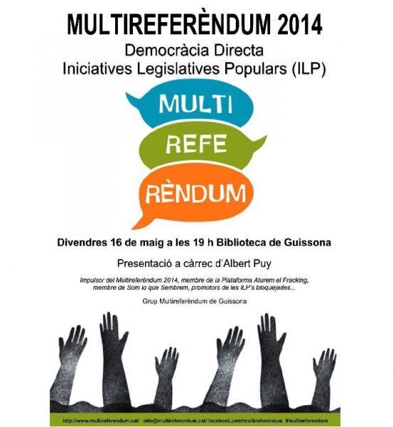 presentació del MULTIREFERÈNDUM