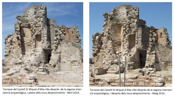 Despreniments a la torassa del  Castell d'Alta-riba - Maig 2014 -
