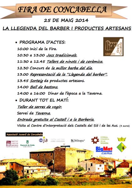 cartell 1a Fira de Concabella: La Llegenda del Barber i productes artesans