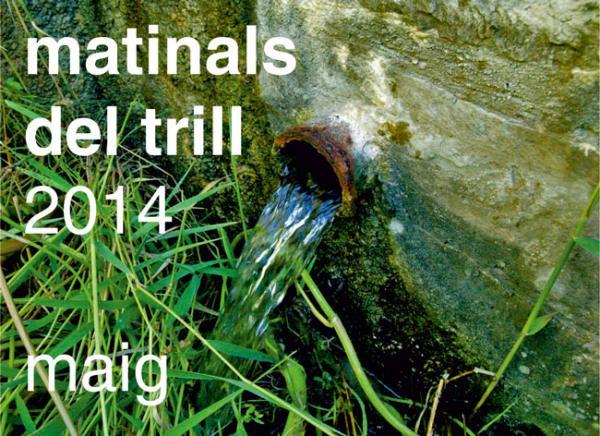 cartell Caminada Matinals del Trill 2014 Ruta la Panadella, Pallerols, Montfart