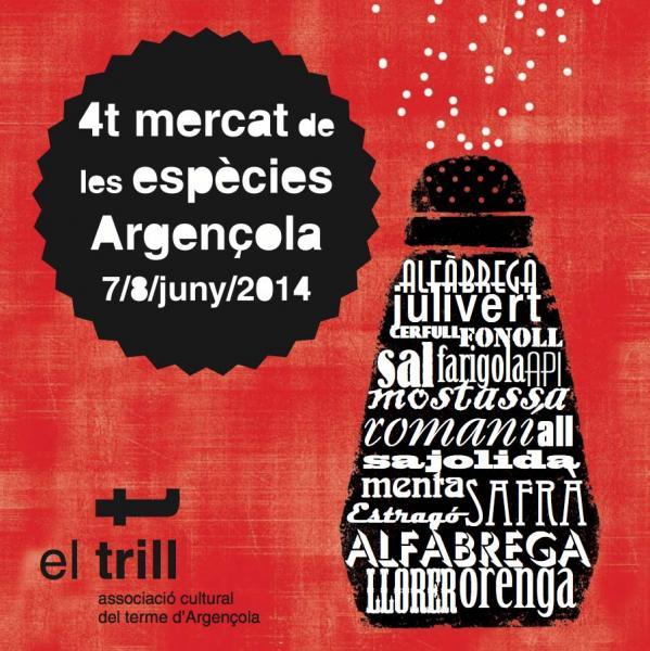cartell 4t Mercat de les Espècies d'Argençola 2014 - Argençola