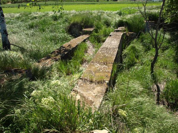 aqüeducte de Tudela, entre els termes de Cervera i Tarroja - Tudela