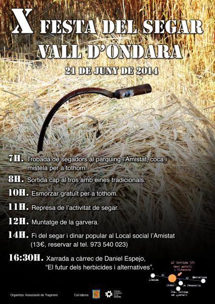 cartell X Festa del Segar de la Vall d'Ondara