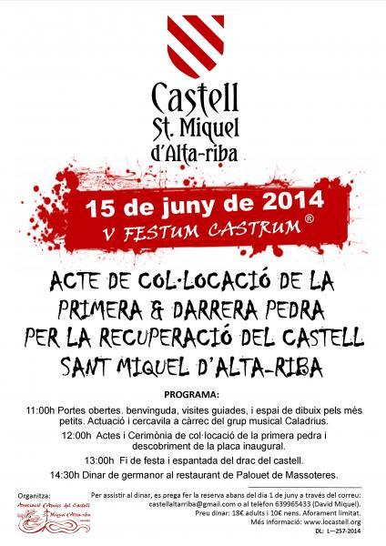 15.06.2014 Programa de la V Festum Castrum  Alta-riba -  AACSMA