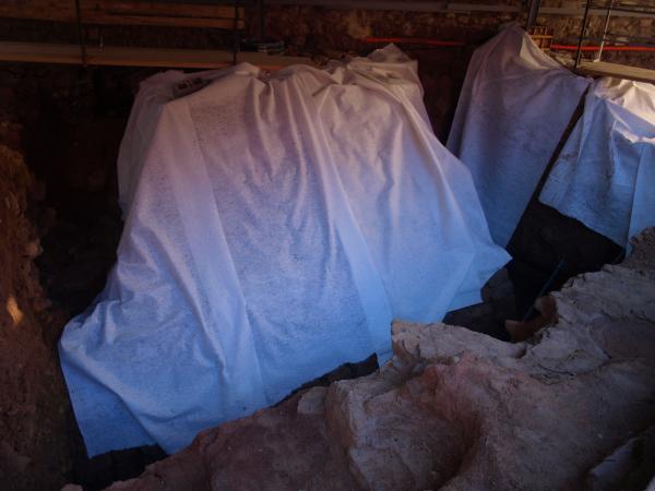 protecció provisional de les restes