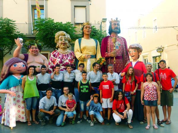 30.06.2014 la colla gegantera de Guissona i els grallers del Brut i la Bruta de Torà  Guissona -  Ajuntament Guissona