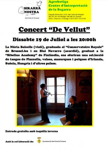 cartell Concert De Vellut