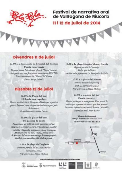 cartell 6è Bla Bla, festival de narrativa oral