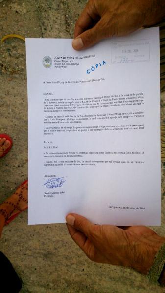 contingut de les al·legacions dels veïns - La Figuerosa