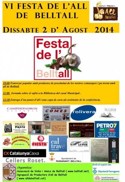 cartell VI Festa de l'All de Belltall
