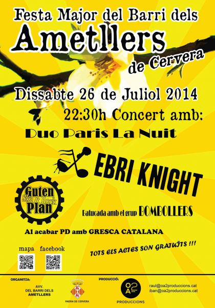 cartell Festa major Barri dels Ametllers 2014 -