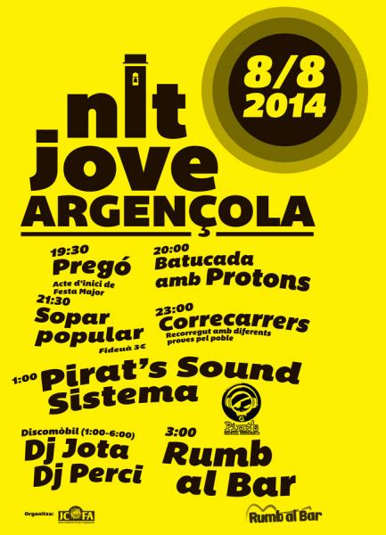 cartell Festa major Argençola 2014