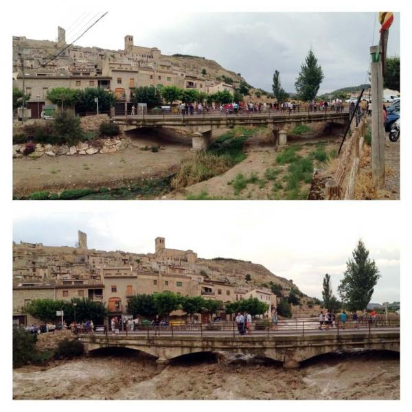 Imatges de la rubinada a Guimerà - Guimerà