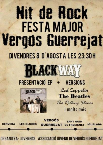 cartell Festa major Vergós Guerrejat 2014