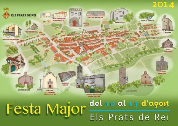cartell Festa major Els Prats de rei 2014