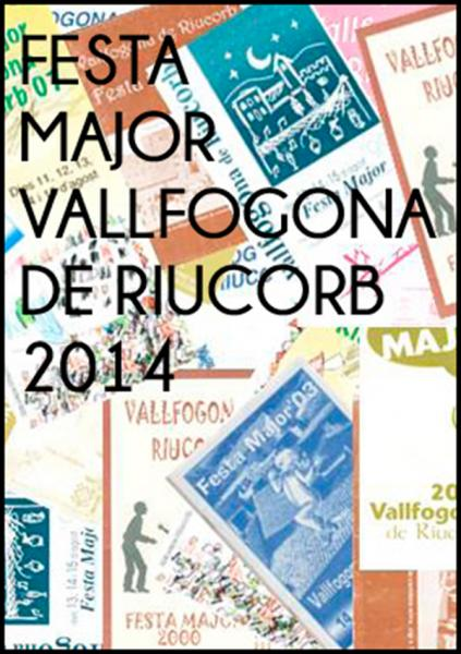 cartell Festa Major Vallfogona de Riucorb 2014