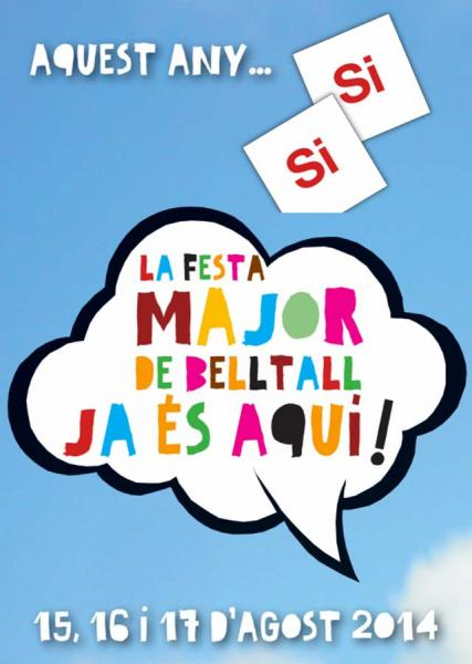 cartell Festa major Belltall 2014